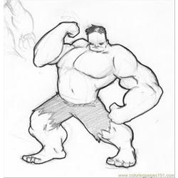 Hulk22 Free Coloring Page for Kids
