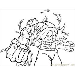 Hulk2 Free Coloring Page for Kids