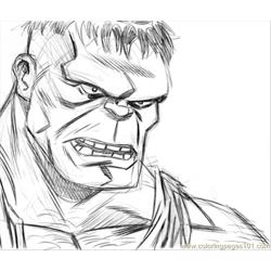 Hulk3web Free Coloring Page for Kids