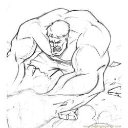 Hulk6 Free Coloring Page for Kids