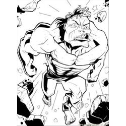 Hulk Burst Free Coloring Page for Kids