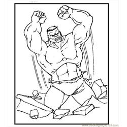 Hulk Coloring Page 11 Free Coloring Page for Kids