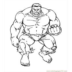 Hulk Coloring Page 12 Free Coloring Page for Kids