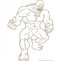Hulk Step 6 Free Coloring Page for Kids