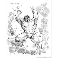 Severinm Hulk Free Coloring Page for Kids