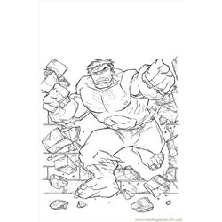 Treasury Hulk Free Coloring Page for Kids