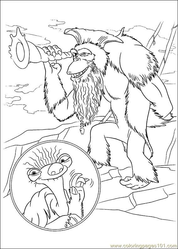 Ice Age Continental Drift 05 Coloring Page Free Ice Age Coloring