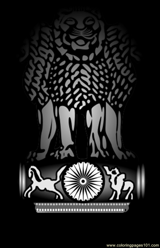 Emblem Of India Svg Coloring Page Free India Coloring