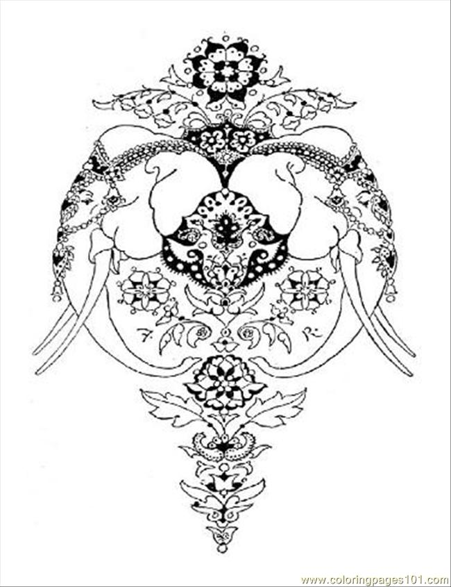 Indian Coloring Pages For Adults Pictures to Pin on Pinterest