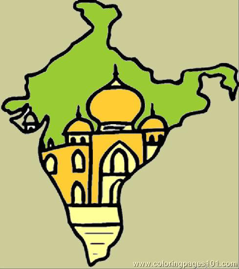 Map Of India Coloring Page