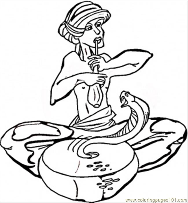 Cobra In India Coloring Page