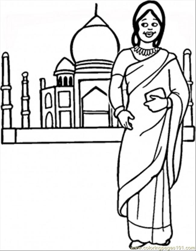 India Coloring Page - Free India Coloring Pages : ColoringPages101.com
