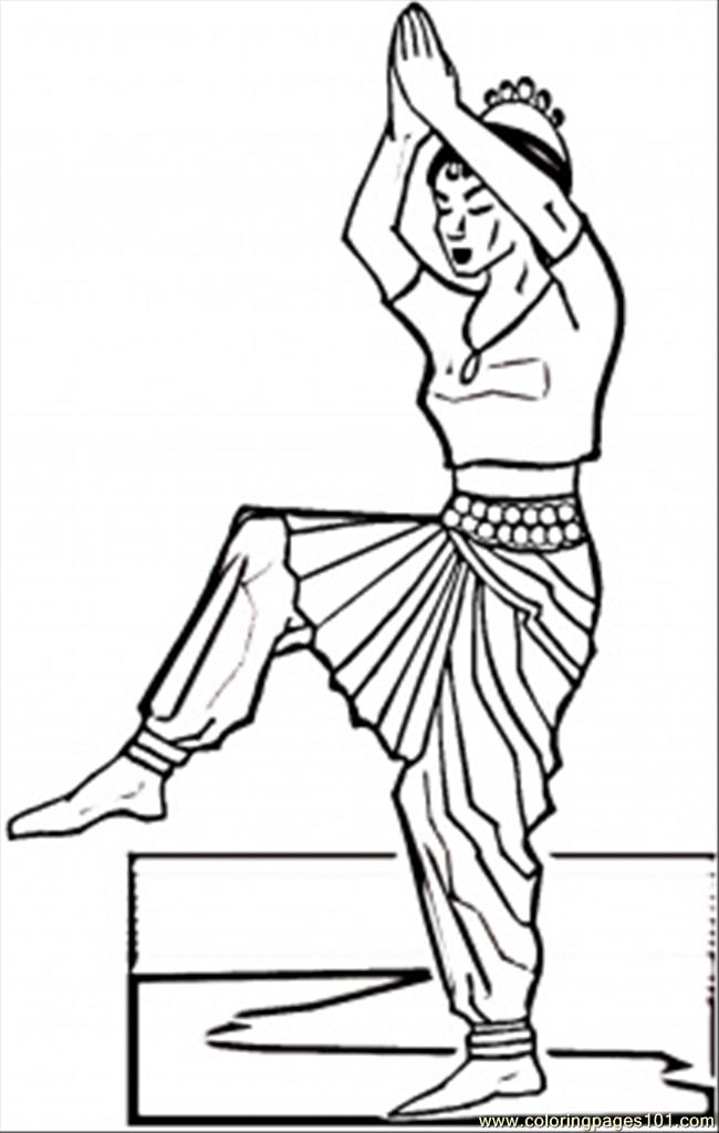 Indian Dance Coloring Page