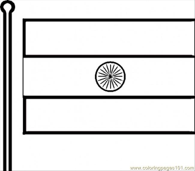 Indian Flag Coloring Page