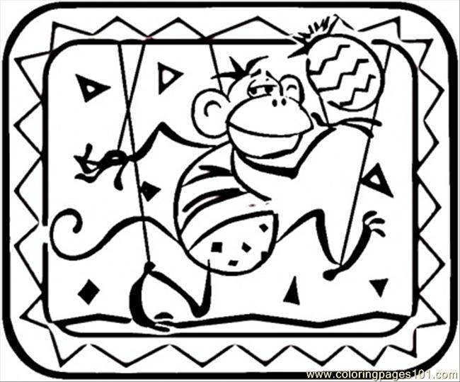 Indian Monkey Coloring Page - Free India Coloring Pages ...