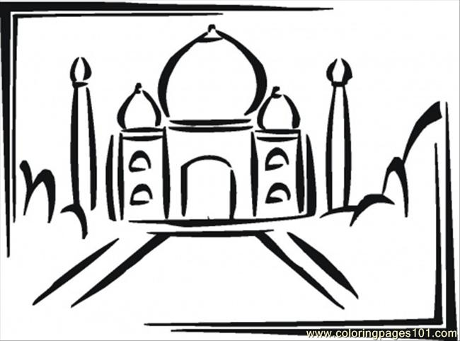 Taj Mahal In India Coloring Page - Free India Coloring Pages ...