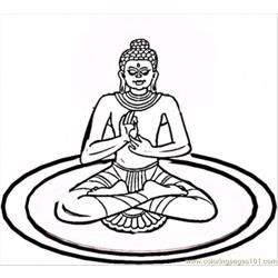 Yoga Free Coloring Page for Kids