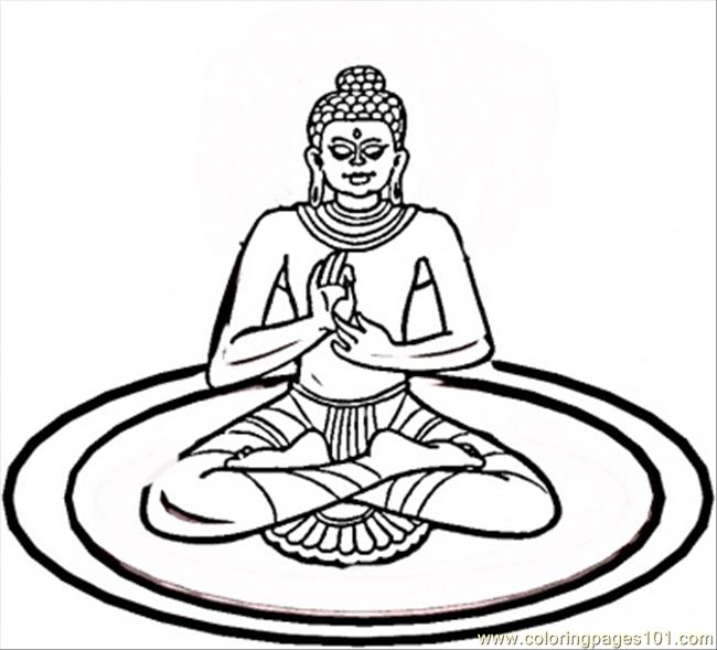Yoga Coloring Page Free India Coloring Pages