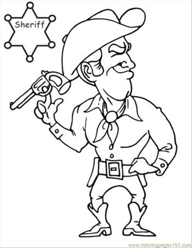 Cowboy Coloring Book Page 07 Coloring Page - Free Instruments ...