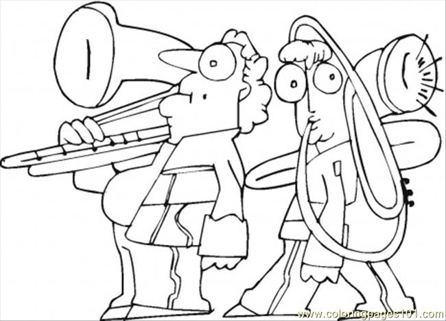 Family Is Playing On Trombone Coloring Page - Free ...