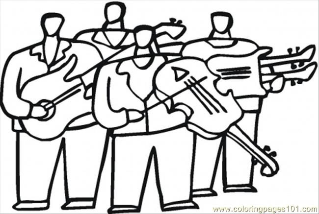 Orchestra With Violas Coloring Page