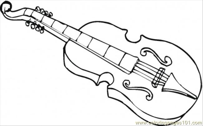 Viola Coloring Page Free Instruments