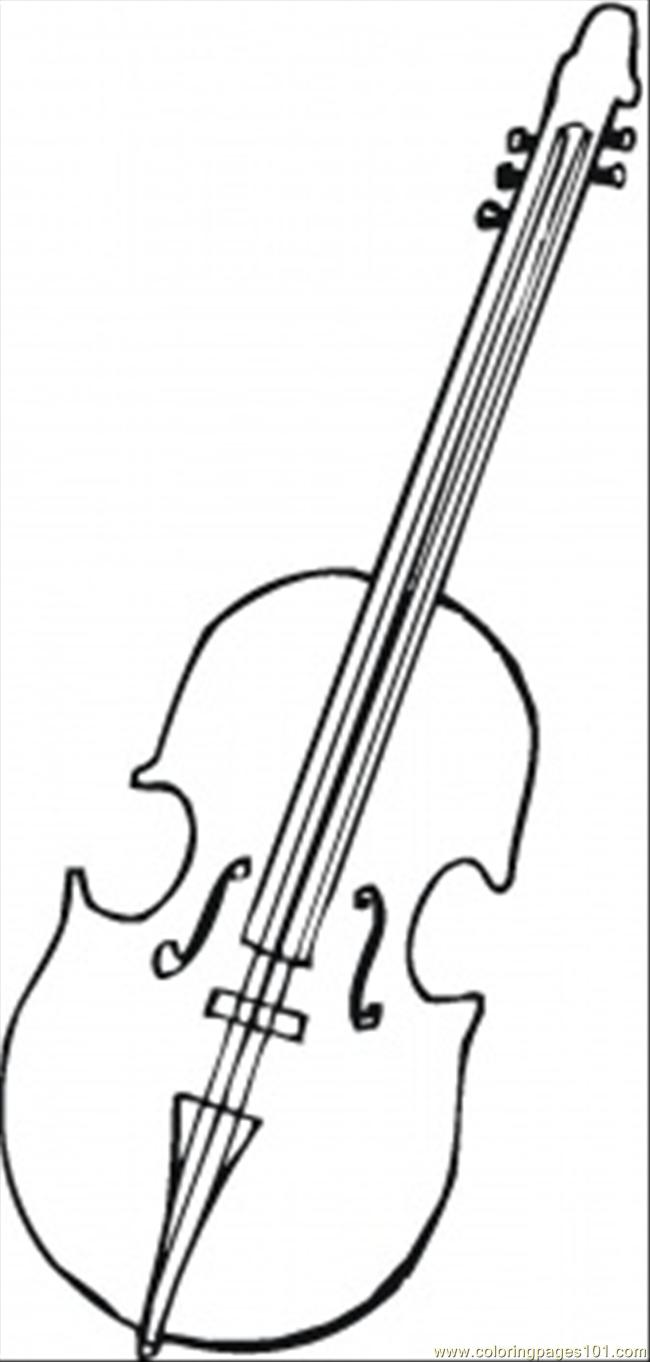 - Viola For Orchestra Coloring Page - Free Instruments Coloring