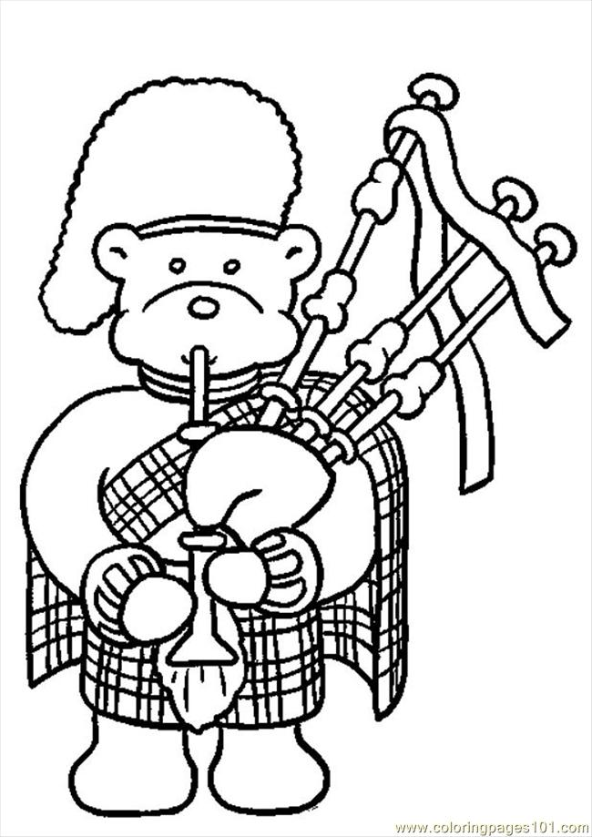 Bagpipes Color Coloring Page