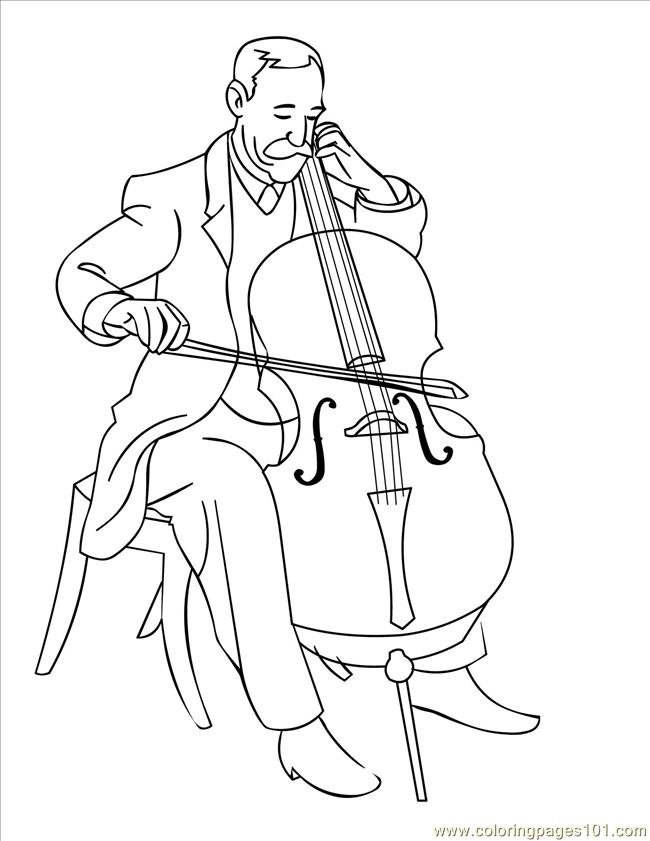 Cello Ink Coloring Page Free