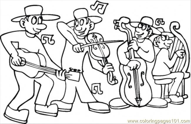 Concert Coloring Page Free Instruments Coloring Pages