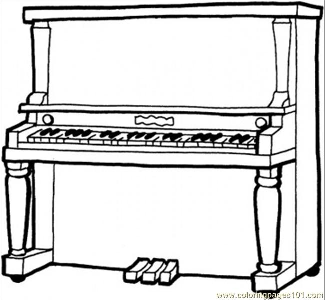 Piano Coloring Page Free Instruments Coloring Pages