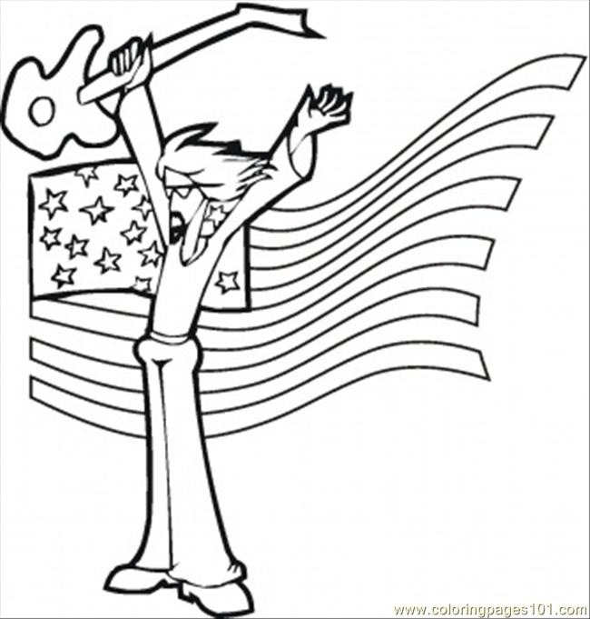 Rock Star Coloring Page - Free Instruments Coloring Pages ... Rock Star Coloring Pages