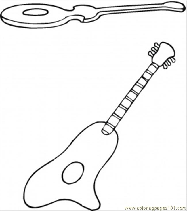 Spanish Guitars Coloring Page