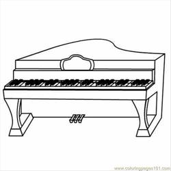 98 Piano Free Coloring Page for Kids