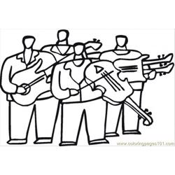Orchestra With Violas Free Coloring Page for Kids