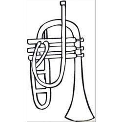 Trumpet Free Coloring Page for Kids