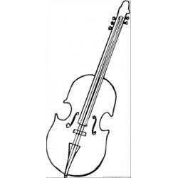 Viola For Orchestra Free Coloring Page for Kids