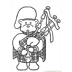 Bagpipes Color Free Coloring Page for Kids