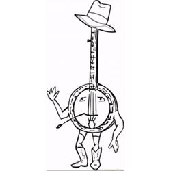 Banjo Free Coloring Page for Kids