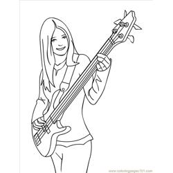 Bass Ink Free Coloring Page for Kids