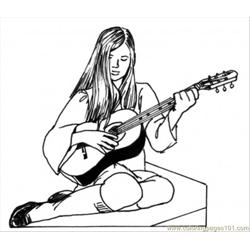 Girl Play Guitar