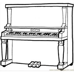 Piano Free Coloring Page for Kids