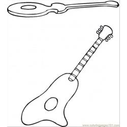 Spanish Guitars Free Coloring Page for Kids