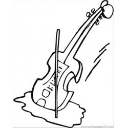 Violin Free Coloring Page for Kids