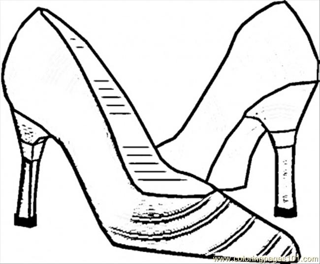 Italian Shoes Coloring Page