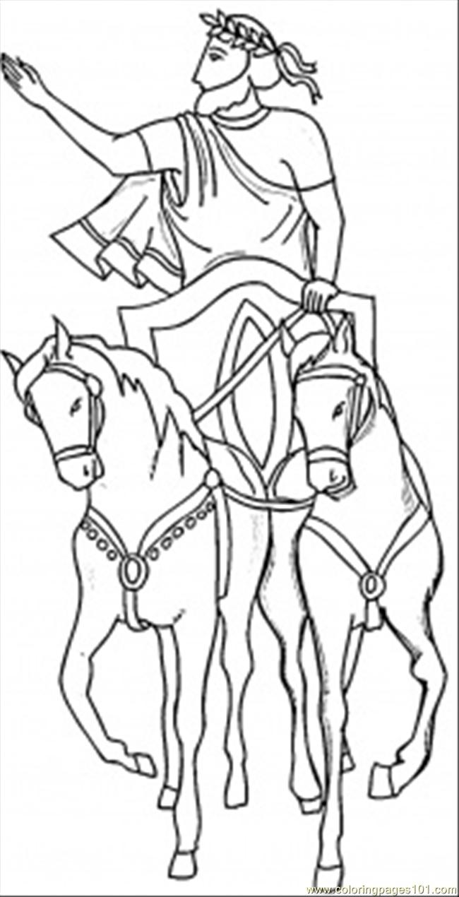 Coloring pages italy - Julius Caesar Coloring Page