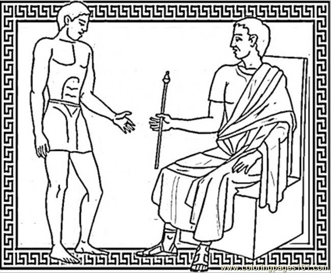 Julius caesar and brutus coloring page