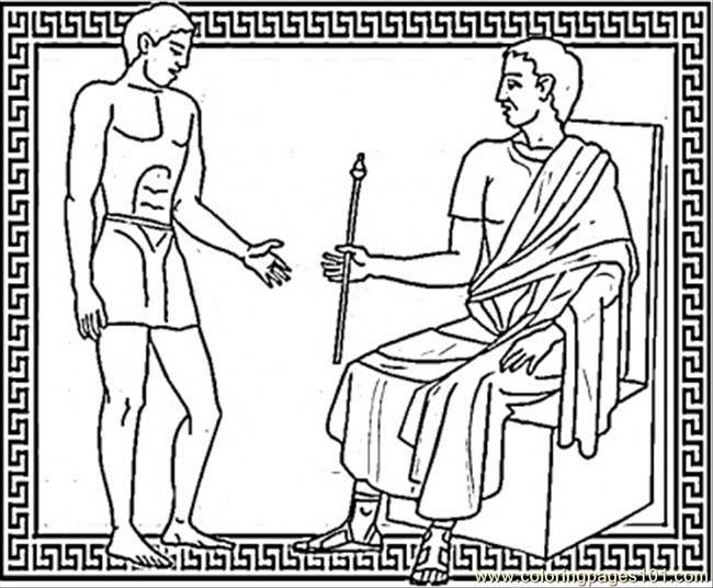 Julius Caesar And Brutus Coloring Page Free Italy