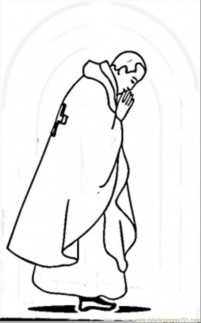 Pope Of Vatican Coloring Page