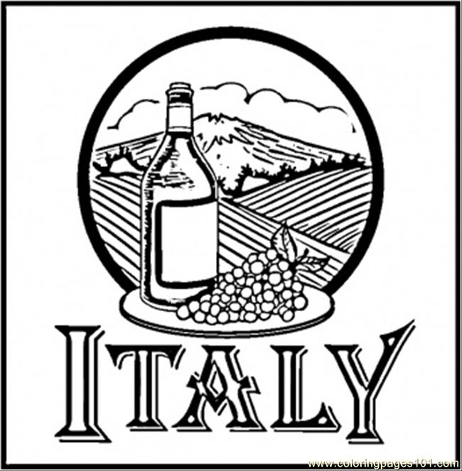 Wine Of Italy Coloring Page Free Italy Coloring Pages